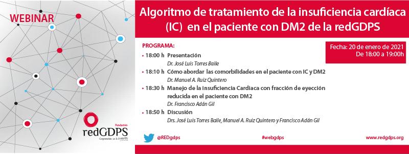 Presentación Algoritmo de tratamiento de la insu?ciencia cardíaca (IC) en el paciente con DM2 de la redGDPS